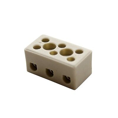 3 Way 57A Ceramic Connector Blocks  Porcelain  Terminal Block High Current