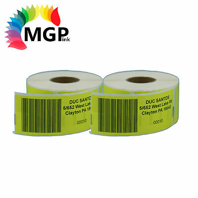 2 ROLLS YELLOW QUALITY LABELS 99012 36x89mm for DYMO / SEIKO labelwriter printer
