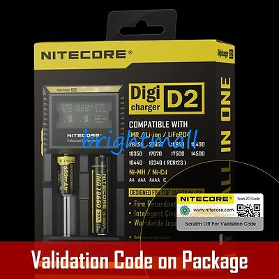 NEW 2019 NITECORE D2 Battery Charger Digicharger For 18650 14500 18350  AA AAA