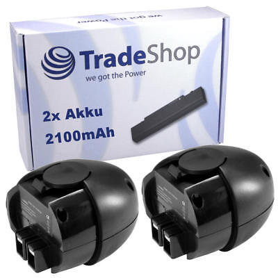 2x Akku 4,8V 2100mAh Ni-MH für Metabo Power Grip 2 II Powergrip2