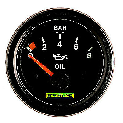 Racing//Rally White Dial Face Racetech Mechanical Turbo Boost Pressure Gauge