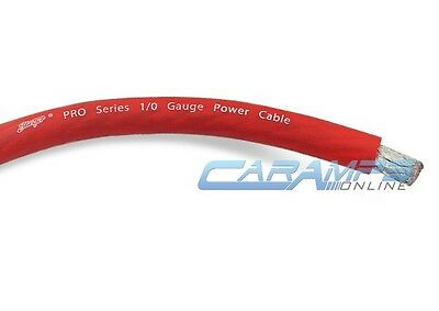 13 Foot Cut of Stinger PRO Series 4 Gauge AWG Red Pure Copper Power Wire SPW14TR