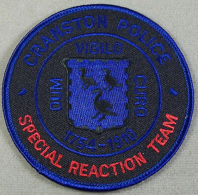 Law Enforcement Patch / Cranston Police Special Reaction Team / Rhode Island
