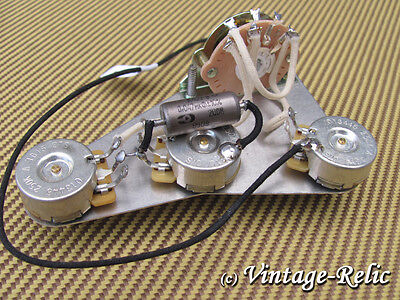 Upgrade wiring kit Pre-wired fits Fender Stratocaster; K40Y-9 PIO cap CTS pots