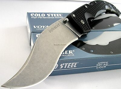 Cold Steel EXTRA LARGE Folder Voyager Vaquero AUS-8A Plain Edge Knife 29TXV