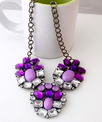 New Lady Jewelry Glamorous Lucky Colours Resin Rhinestone Choker Necklace