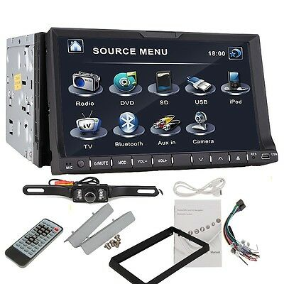 "7"" Double 2Din Car Stereo CD/DVD/vCD Player TV Ipod Radio Bluetooth USB+CAMERA"