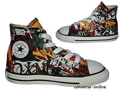 Kids Toddlers Boys Girl CONVERSE All Star GRAFFITI HIGH Trainers Boots SIZE UK 7