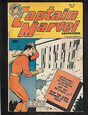 Captain Marvel #74 ~ The Fate of the World ~ 1947 (6.5) WH
