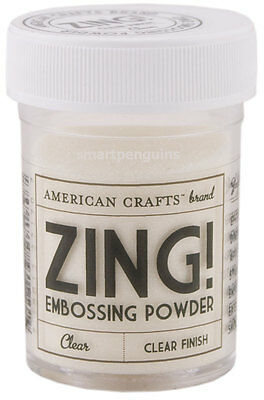 American Crafts Zing Embossing Powder Clear Finish Zing!