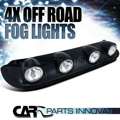 Off Road Light Bulbs: 4x Clear 4X4 Off Road Truck Pickup Roof Top Fog Light Bar+Switch,Lighting