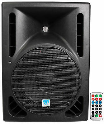 "Rockville RPG10BT 10"" Powered 600W DJ PA Speaker BlueTooth, USB, SD, Remote"