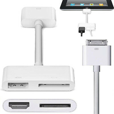 S for Apple iPhone iPad 1080P Digital AV Adapter 30Pin Dock Connector to HDMI