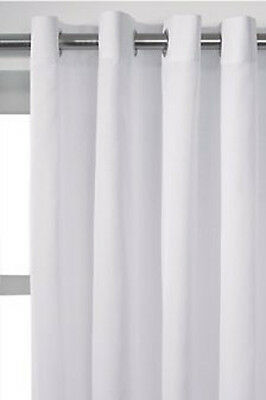 White Voile Eyelet Ring Top Lined Curtain Drapes