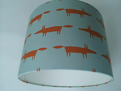Lampshade made from Little Fox - Spirit & Soul - Scion BLUE Wallpaper..Harlequin