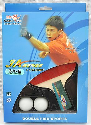 Double Fish Table Tennis Blade / Bat - 3A-E Penhold / Short Handle Racquet
