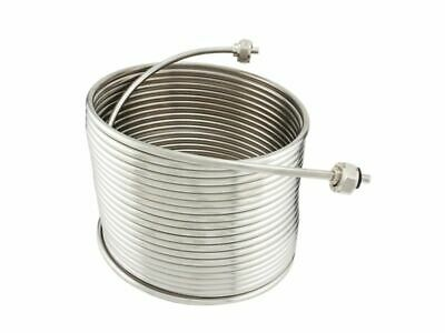 "NY Brew Supply Jockey Box Stainless Steel Coil - 5/16"" x 50', Left Hand"