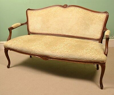 Antique French Walnut Sofa / Settee c.1900