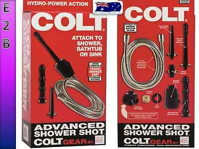 COLT ADVANCED SHOWER SHOT SPRAY ENEMA ANAL Vaginal DOUCHE CLEANSER KIT & LUBE