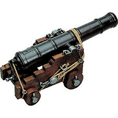 "Naval Cannon Model 18th Century British 1800 Wood Trunk 10.75"" New"