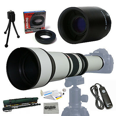 Opteka 650-2600mm HD Telephoto Zoom Lens Bundle for Nikon D4 D4S D3 D3S D1x D2x
