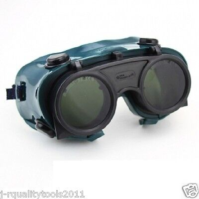 Welder's Flip Up Welding Safety Goggles Glasses Eye Face Weld Shield Mig Gas