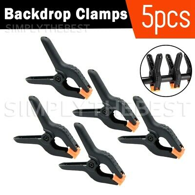 5Pcs Clamps Clip for Photo Studio Muslin Paper Background Backdrop Support Stand