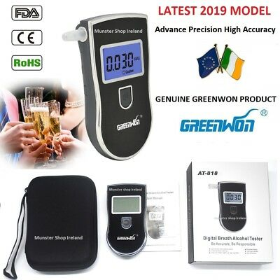 2019 Latest Professional Police Digital Breath Alcohol Tester Breathalyzer AT818
