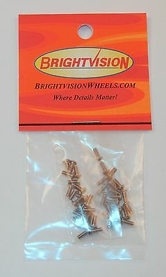 40 SILVER 1-72 Hex-Drive Button-Head Screw-In Rivets For Customs & Restorations