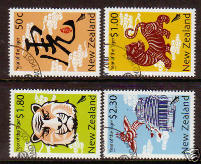 NEW ZEALAND 2010 YEAR OF THE TIGER FINE USED SET 4