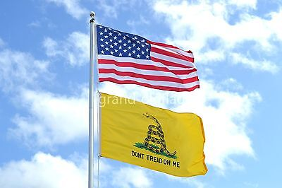 LOT 3X5 U.S. AMERICAN NYLON EMROIDERED & DBLSIDED GADSDEN DONT TREAD ON ME FLAG