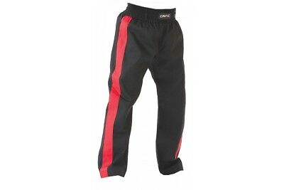 T-Sport Adult Kickboxing Pants Poly Cotton Trousers Black Red Kick Boxing Kids