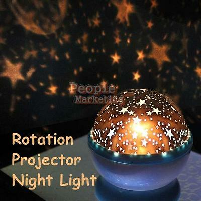Rotating Sky Cosmos Star Night Romantic Projector Luminous Light Lamp Child Gift
