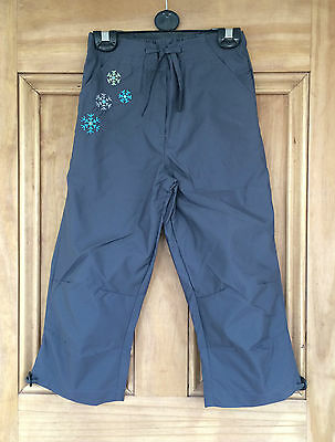 Tesco New Slate Grey Cropped Pull On Trousers Age 5 - 10 Years Bnwt Rrp=£12