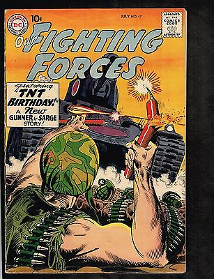 Our Fighting Forces #47 ~ TNT Birthday ~ 1958 (5.5) WH