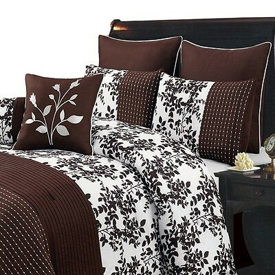 Bliss Chocolate Luxury 8-Piece Comforter Set (Available in 5 Sizes)