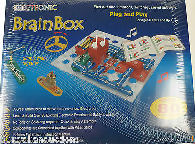Snap Circuit Brainbox Kit Fm 80 Experiments Kids Discover Motor Switches Lights