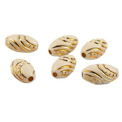 200pcs Mixed Colors Gold Stripes Football Acrylic Spacer Bead Special Making L