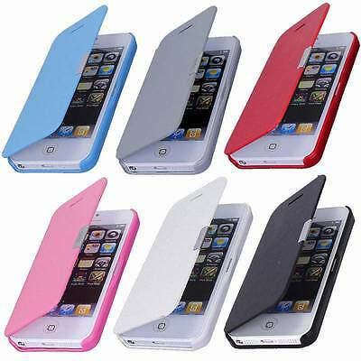 New Magnetic Flip PU Leather Flip Case Cover For iPhone 4/4S 5/5S 5C 6/6 plus