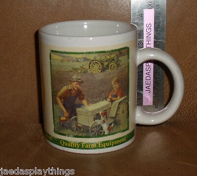 "John Deere Quality Farm Equipment Tractor Cow Boy 3.5"" Mug Cup FREE US Shipping"