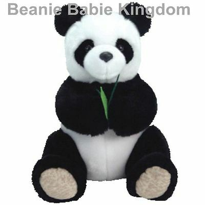 "Ty Beanie Buddy * LI MEI * The Back & White Panda Buddie 12"" Tall"
