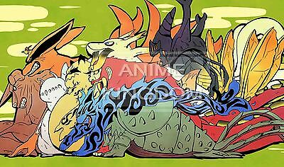 Custom Yugioh Playmat Play Mat Large Mouse Pad Naruto Cute Tailed Beasts #417
