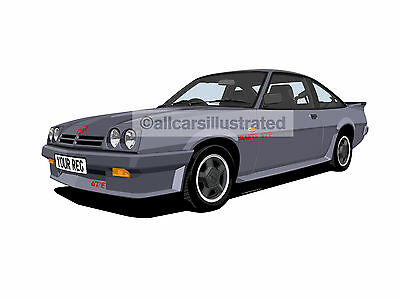 Opel Manta Gte Exclusive Car Art Print Picture (Size A4). Personalise It!