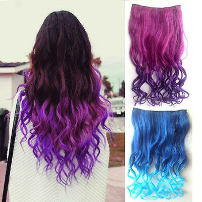 9 Colors Women Hair Extensions Full Head Clip in Synthetic Long Curly Hair New