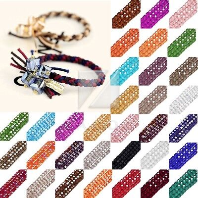 100pcs Loose Faceted Cut Austria Crystal Square Cube Spacer Beads Finding 4mm