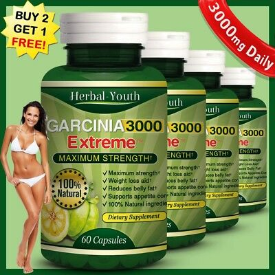 ◆ 3000mg Daily THERMOGENIC ◆ GARCINIA CAMBOGIA Capsules ◆ Weight Loss Diet Pills