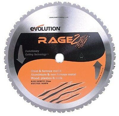 "Evolution Rage355 Rage 2 Multi Purpose Saw Blade 14"" Diameter 36 Teeth"
