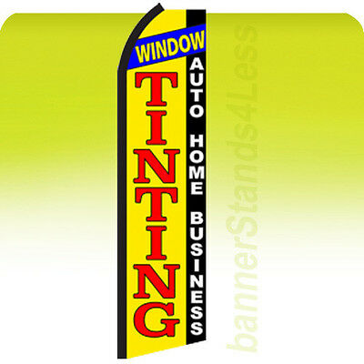 Feather Swooper Banner Sign 11.5' Flag - WINDOW TINTING AUTO HOME BUSINESS yz