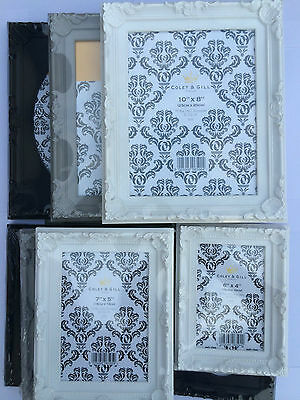 Vintage Shabby Chic Rectangle Photo Frames Baroque Style Decorative Ornaments