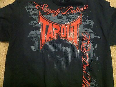 TapouT UFC MPS Men Size Large Short Sleeves Black Simply Believe  T-Shirt NWT